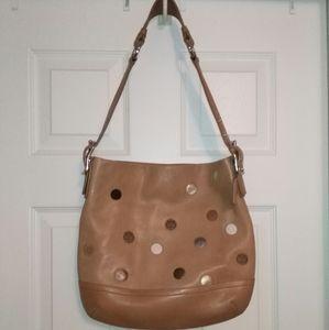 Coach polka dot hobo bag